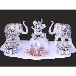 Ganesh Mandir Set With Elephant