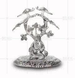 White Metal Sai Baba Idol Under Tree