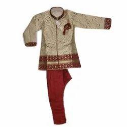 Silk Ethnic Wear Kids Boys Sherwani