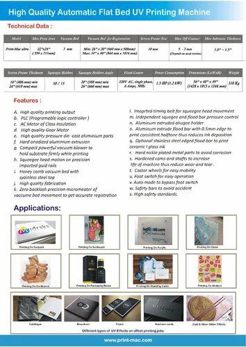 Semi Automatic Flat Bed Screen Printing Machine