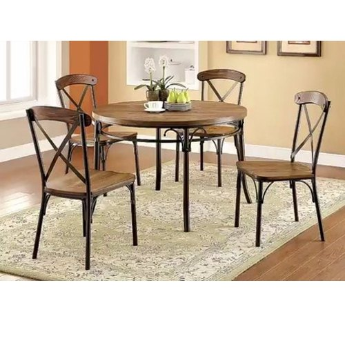 747f24bb898 Wooden Iron Round Dining Table Set at Rs 10000  set