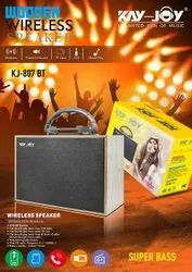Brown Rectangular Kay Joy KJ-807 BT Bluetooth Multimedia Speaker, Size: Medium