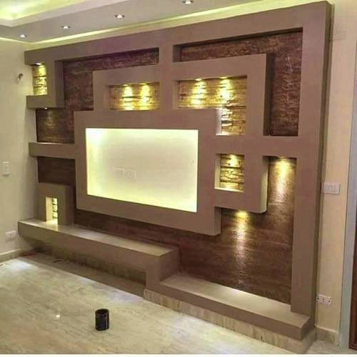 Tv Room Design Ideas: Brown Contemporary Bedroom TV Unit, Rs 800 /square Feet