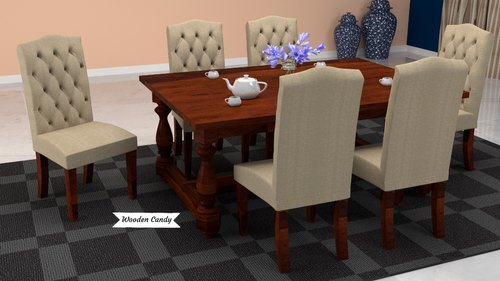 Honey Walnut Sheesham Wood Jordan Dining Set For Home Seating Capacity 6 Rs 46549 Set Id 21637017930