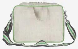 Natural Premium Jute Laptop Jute Conference Bag, For Promotion, Size: 12.5x16x5