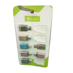 Six Star Plastic OTG Cable Connector, For Storage, Memory Size: 8 GB