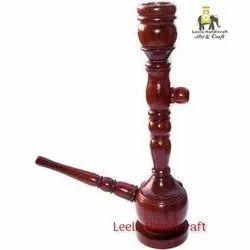 Wooden Red Hookah
