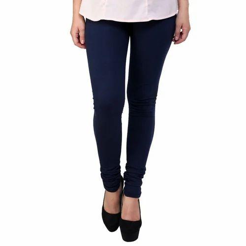 56d22e08f Plain Cotton Lycra Leggings Navy Blue, Size: Free Size, Rs 70 /piece ...
