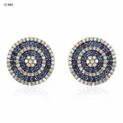 Sapphire Gemstone Stud Earrings