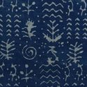 African Textured Print Indigo Blue Handmade Block Cotton Fabric