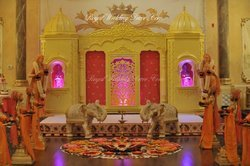 Ivory Decoration Wedding Stage