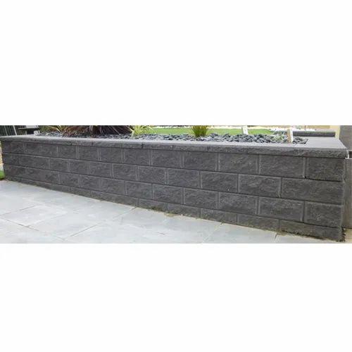 Black Limestone Rock Face Edge Machine Cut Wall Cladding