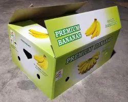 Single Wall 3 Ply Bananas Corrugated Box, 5 - 10 Kg