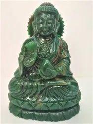 Gautam Buddha statue of green jade