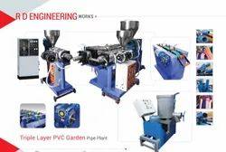 PVC Garden Pipe Plant With Jockey Extruder