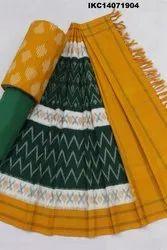 Ikkat Kalamkari Salwar Suit