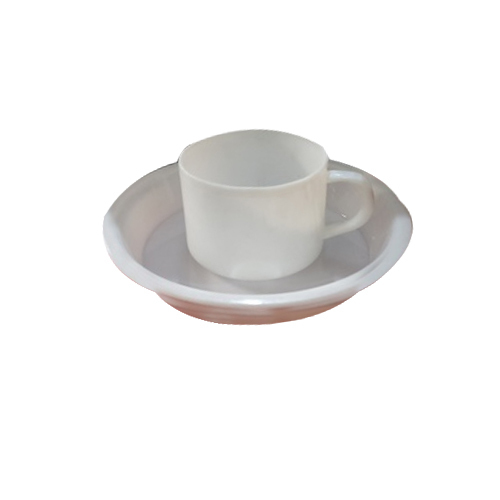White Plastic Tea Cups And Saucers, Rs 17 /piece, Bhanu Plastic | ID ...