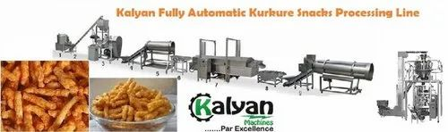 Fully Automatic Kurkure Snacks Making Line With Packing Machine