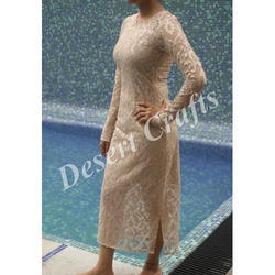Ladies Trendy Net Dresses, Full Sleeve
