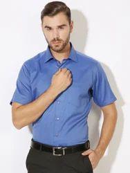Men's Standard Blue Formal Shirts