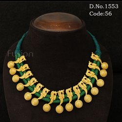 Traditional Antique Gold Thread Necklace
