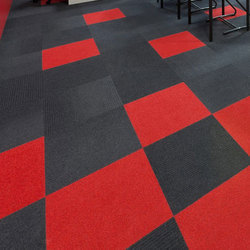 Red And Black Office Carpet Tile, Thickness: 4.5 Mm