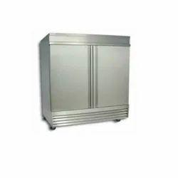 Silver Stainless Steel Two Door Refrigerator, Double Door