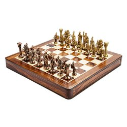 Brass Roman Chess Set 16 inches
