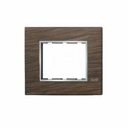 3 Module Black Wood Modular Switch Plate