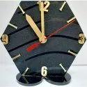 Acrylic Analog Hexagonal Designer Table Watch, Packaging Type: Box