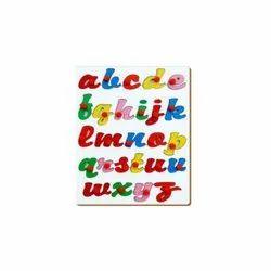 Plastic English Alphabet Cursive With Knob, Packaging Type: Box