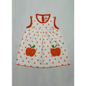 Apple Printed Baby Frock
