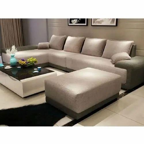 Wooden Modern Leather L Shape Sofa Set Living Room Back Style Cushion Back Rs 26500 Set Id 22040392362