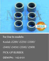 Pick Up Rubber, OEM PN - 142-8101, For Use Models. Kodak I3200/i3250/i3300/i3400/i3450/i3500/i2900