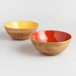 Wooden Fruit Serving Bowl