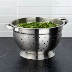 Stainless Steel Deep Colander with Base and Handles