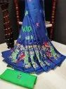Sana Silk Kalamkari Work Saree
