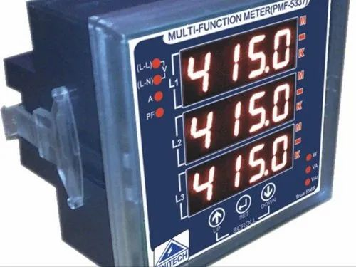 Unitech Three Phase Multifunction Meter (5337) With Pulse O/P for Industrial