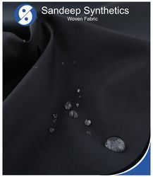Black Plain And Printed Water Repellent Fabric
