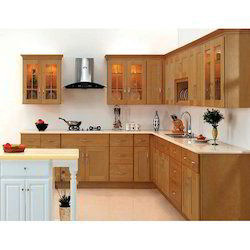 Wooden L Shaped Kitchen