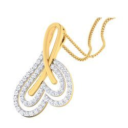D-Star Jewellery Gold Diamond Pendant