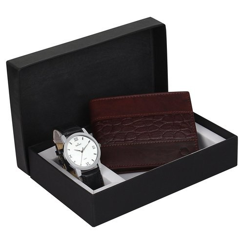 OMAX Men''s Combo Pack of Watch & Wallet - LWW03
