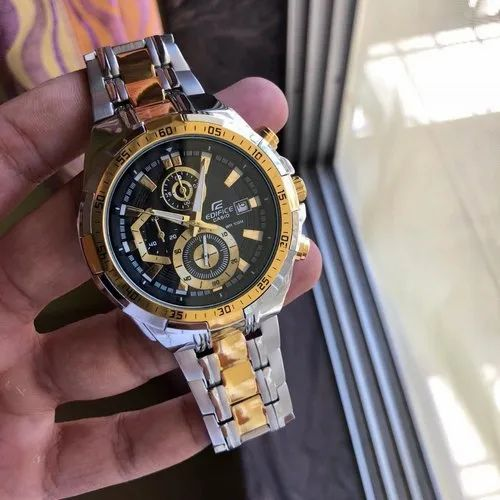 Gold And Silver Casio Edifice Watches Rs 3500 Piece Classic