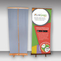 Bamboo Roll Up Stands, For Excellent For Indoor Retail Use