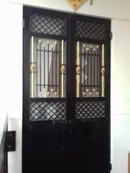 Iron Safety Double Door
