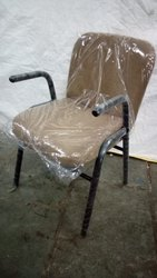 Brown Polyester Office Training Chair