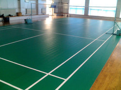 Synthetic Badminton Court Flooring Service, Thickness: 4.5- 6 mm