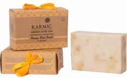 Olive Oil Rectangular Orange Peel Scrub Soap, Non-medicated, 1 Pc