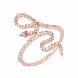 Diamond Snake Cocktail Ring
