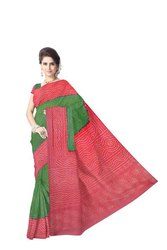Red And Green Color Banarasi Georgette Saree
